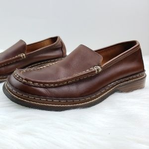 Frye Corsica Moc Loafers sz 6.5M Brown Leather